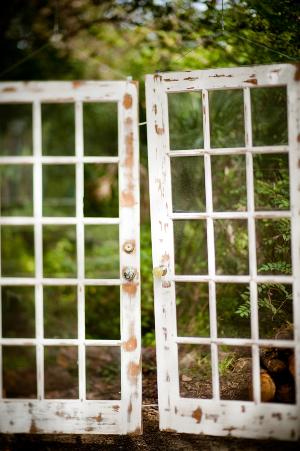 white chippy glass doors