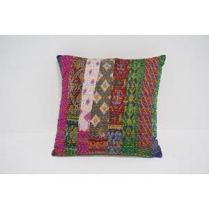 boho kantha pillow #8