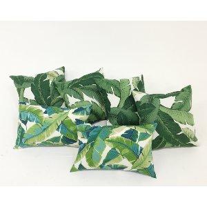 palm leaf pillows {set of 3}