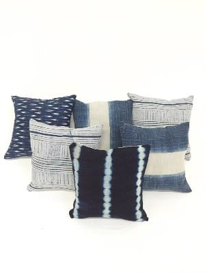 indigo pillows {set of 3}