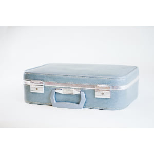 light blue skyway suitcase