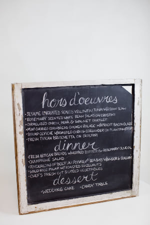 square window chalkboard