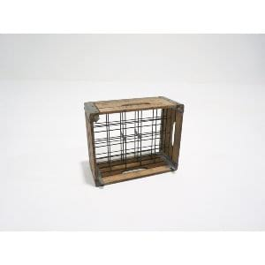 medium wooden milk crate