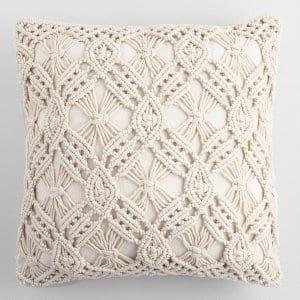 macrame pillow {set of 3]