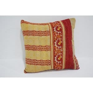 boho kantha pillow #5