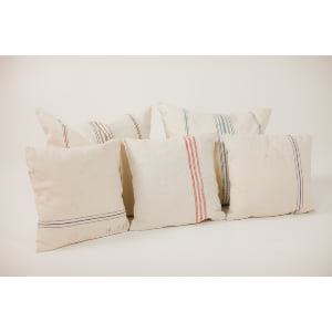 grain sack pillows {set of 3}