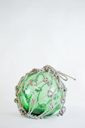 green glass buoy