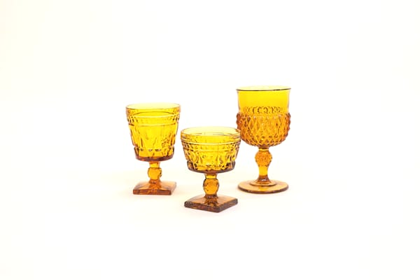 yellow glass vessel - single