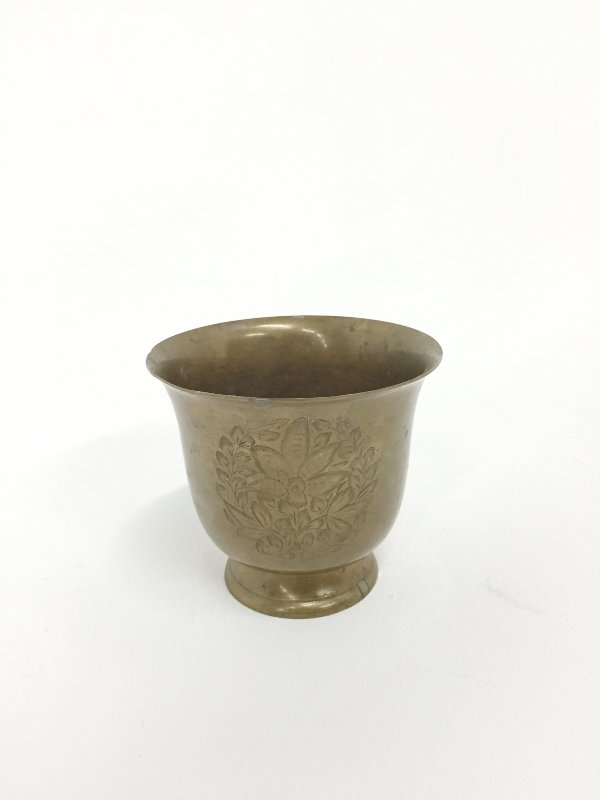 etched brass vessel