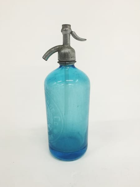 bell light blue seltzer bottle