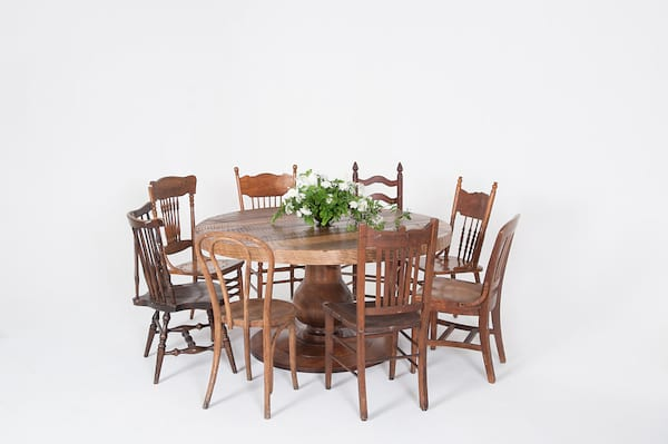 kingston table dining series: mismatched chairs