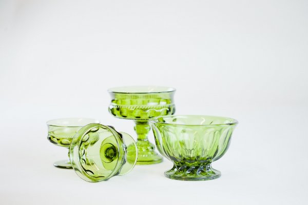 green glass vessels