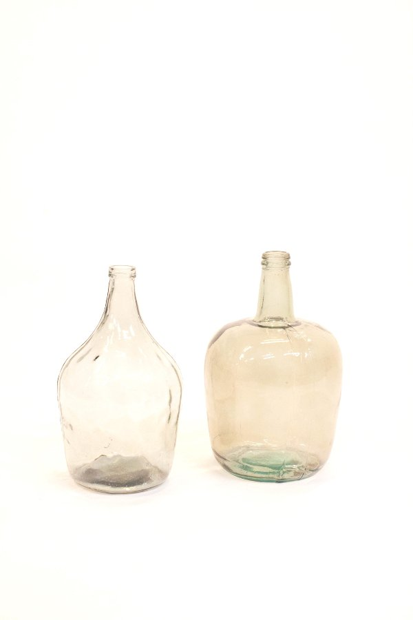 large aqua glass vessels