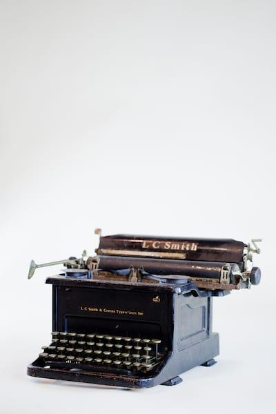 lc smith typewriter