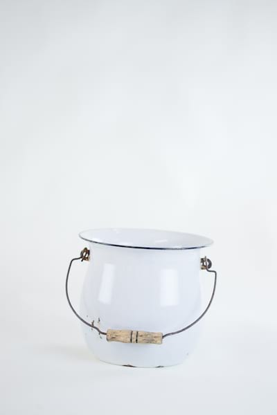 white metal pail
