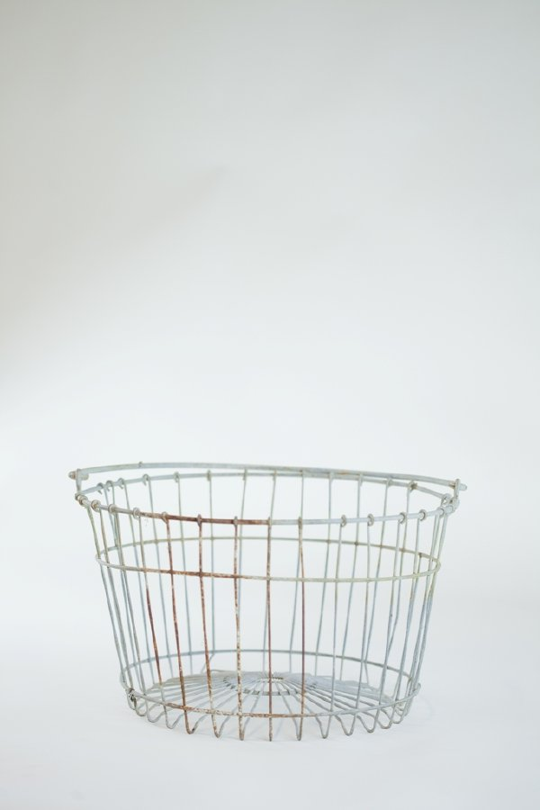 raw metal egg basket
