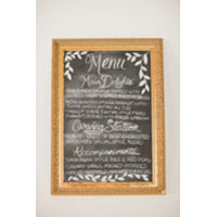 gold ornate frame chalkboard