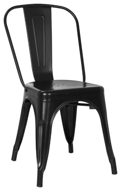 black remington metal chair