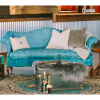 Beverly Blue Sofa