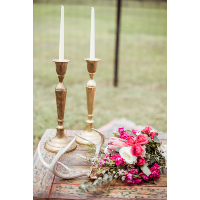 Alex Brass Candle Holders