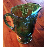 Mamie Carnival Glass Pitcher