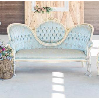 Baby Blue Victorian Sofa