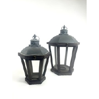 Galvenized Lantern - Small