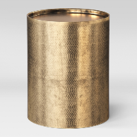 Brass Barrel Side Table