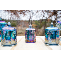 Bette Carnival Glass Canister