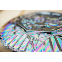 Rosie Carnival Glass Plate