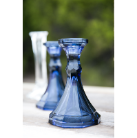 Edna Blue Candle Holders