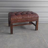 Dewey Leather Stool