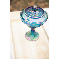 Marcella Carnival Glass Compote