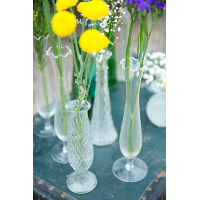 Josephine Clear Glass Bud Vases