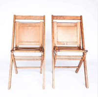 Solid Back folding chairs