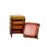 Stackable Leather Ottoman