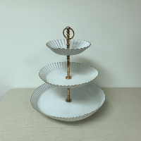 3-Tiered White Cupcake Stand
