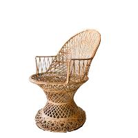 Tan Fiberglass Chair