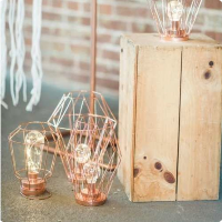 Large copper wire LED lanterns