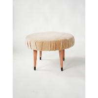 Peach Round Ottoman