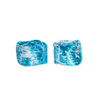 Blue & Silver Sequin Pouf