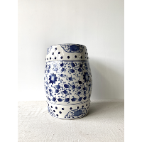 Blue & White Ceramic Drum Table