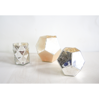 geometric mercury glass vases