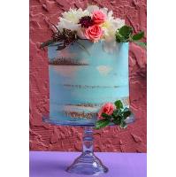 Pale Blue Vintage Cake Plate