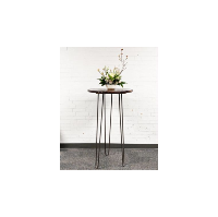 Round Hightop Hairpin Cocktail Table