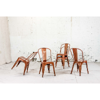 copper tolix chair