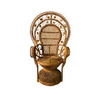 Rattan Scroll Peacock Chair