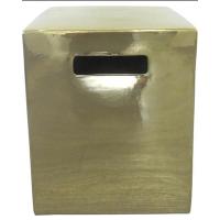 Gold Luster Pedestal stool
