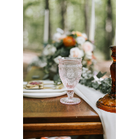 matching pink goblet