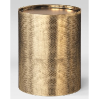 Hammered Brass Side Table